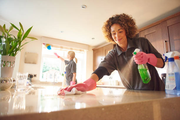 cleaning-a-marble-worktop-picture-id648737224